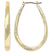 Monet® Gold-Tone Large Oval Hoop Earrings