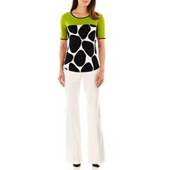 Worthington® Colorblock Top or Curvy Trouser Pants