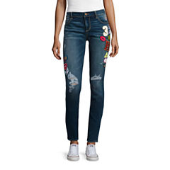 Arizona Limited Edition Patched Skinny Jeans - Juniors