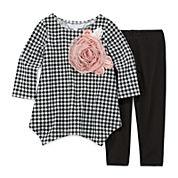Marmelatta Long-Sleeve Check Shirt and Leggings Set - Toddler Girls 2t-4t