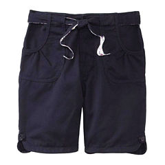 U.S. Polo Assn.® Bermuda Shorts with Reversible Belt - Girls 7-16