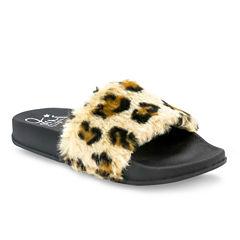Olivia Miller Aimee Camo Girls Slide Sandals - Little Kids