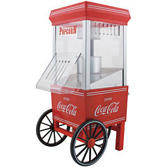 Nostalgia OFP501COKE Coca-Cola 12-Cup Hot Air Popcorn Maker
