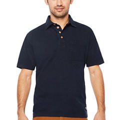Smith Workwear Short Sleeve Solid Knit Polo Shirt