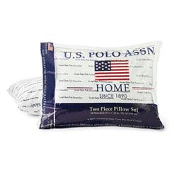U.S. Polo Assn. Script Medium Pillow