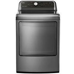 LG 7.3 Cu. Ft. Ultra Large Capacity Electric Dryer with EasyLoad™ Door