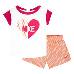 Nike 2-pc. Short Set Girls