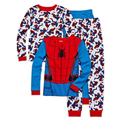 4 PC PAJAMA SPIDERMAN BIG KID