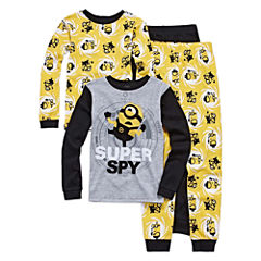 4 PC PAJAMA MINION BIG KID