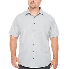 Van Heusen Short Sleeve Traveler Air Check Button-Front Shirt-Big and Tall
