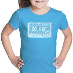 Los Angeles Pop Art The 80'S Short Sleeve Graphic T-Shirt Girls