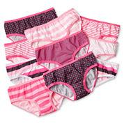 Maidenform 10-pk. Pink Print Hipster Panties - Girls 4-14