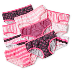 Maidenform 10-pk. Pink Print Hipster Panties - Girls 4-14