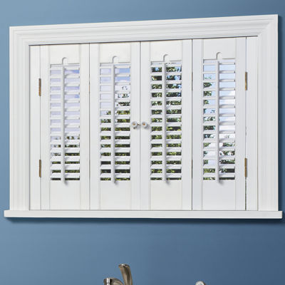 Attractive JCPenney Home™ Traditional Wood Interior Shutters   4 Panels Pictures Gallery