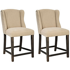 Signature Design by Ashley® Moriann Upholstered Set of 2 Barstools