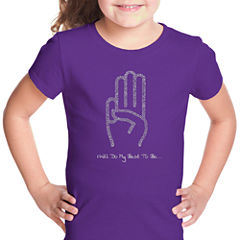 Los Angeles Pop Art Girl Scout Law Short Sleeve Graphic T-Shirt Girls