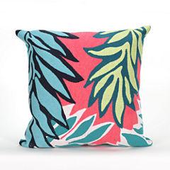 Liora Manne Visions Ii Tropic Leaf Rectangular Outdoor Pillow