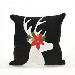 Liora Manne Frontporch Reindeer Square Outdoor Pillow