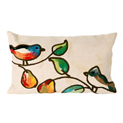Liora Manne Visions Iii Song Birds Rectangular Outdoor Pillow