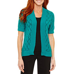 Sag Harbor Fiesta Short Sleeve Cardigan