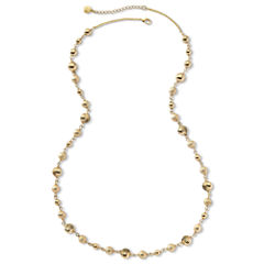 Monet® Gold-Tone Long Beaded Necklace
