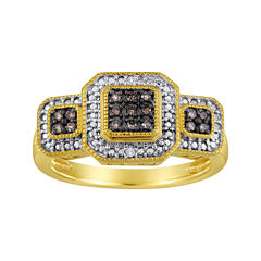 1/10 CT. T.W. White & Champagne Diamond Ring