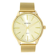 Mens Geneva Gold-Tone Mesh Strap Watch 33575