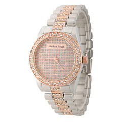 Personalized Mens Rose Gold And Silver Tone Alloy Bracelet Watch