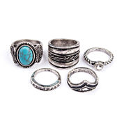 Arizona 5-pc. Cab Silver-Tone Ring Set