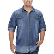 i jeans by Buffalo Long-Sleeve Milo Denim Shirt - Big & Tall