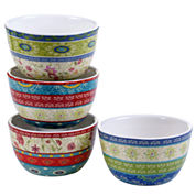 Certified International Anabelle Set of 4 Ice Cream Bowls