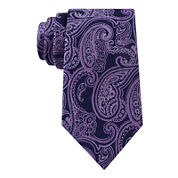 Stafford® Lakefront Ground Paisley Tie - Extra Long