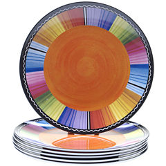 Certified International Serape Set of 6 Melamine Salad Plates
