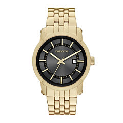 Claiborne® Mens Gold-Tone Watch