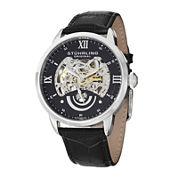 Stührling® Original Mens Black Dial Skeleton Automatic Watch