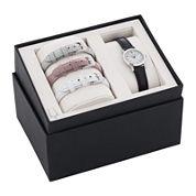 Bulova® Womens Interchangeable Leather Strap Watch Set 96X132