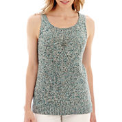 Liz Claiborne® Marled Sweater Tank Top