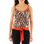 Worthington® Sleeveless Tie-Front Cami