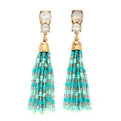 Natasha Accessories Blue Drop Earrings