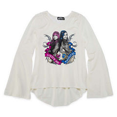Long Sleeve V Neck Descendants T-Shirt-Big Kid Girls