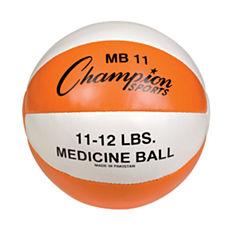 Champion Sports 1112lb Leather Medicine Ball