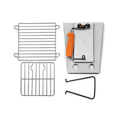 Fox Rub BBQ Collapsible Camping Grill and ChimneyStarter