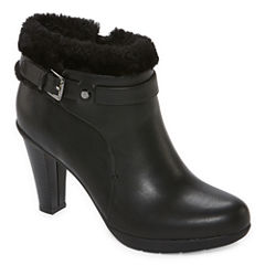 Liz Claiborne® Scrappy Heeled Ankle Booties - Wide