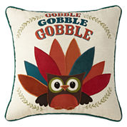 JCPenney Home™ Turkey Owl Gobble Pillow