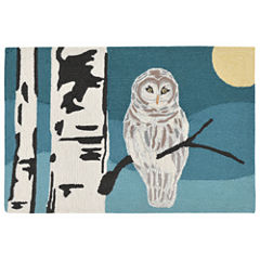 Liora Manne Frontporch Snowy Owl Hand Tufted Rectangular Rugs