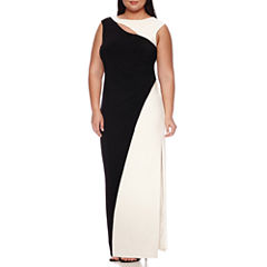 Scarlett Sleeveless Colorblock Gown - Plus