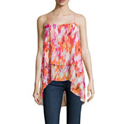 a.n.a® Tiered Chiffon Tank Top - Tall