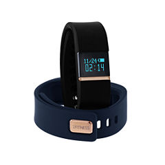 Itouch Ifitness Activity Tracker Rose/Black And Navy Interchangeable Band Unisex Multicolor Strap Watch-Ift2434bk668-259