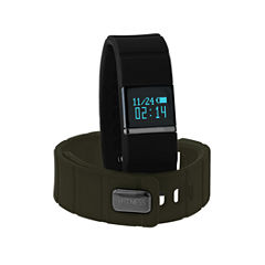 Itouch Ifitness Activity Tracker Black/Black And Green Interchangeable Band Unisex Multicolor Strap Watch-Ift5415bk668-733