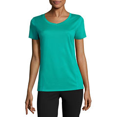Made For Life Short Sleeve V Neck T-Shirt-Womens Talls